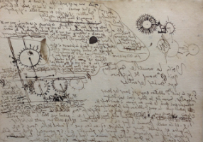 A manuscript of Gottfried Leibniz' work.